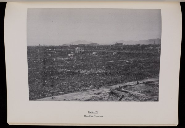 The photographs in this government study show an obliterated city, but virtually none of the human casualties.