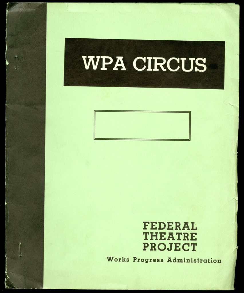 Cover of the WPA Circus Route Book