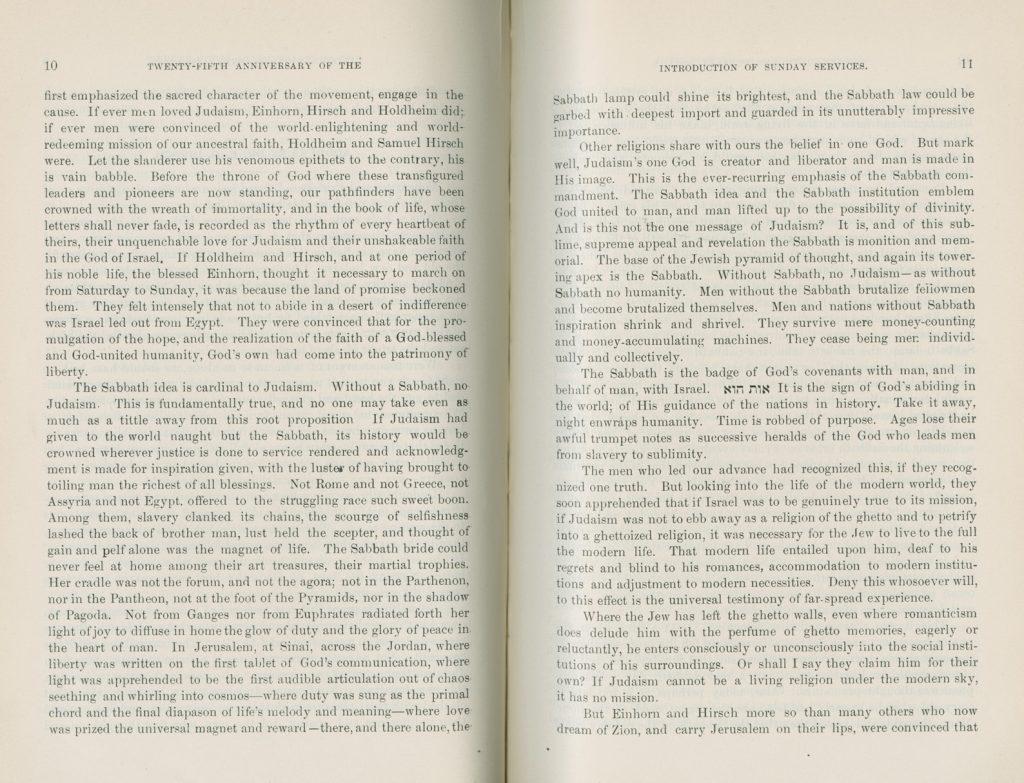 Address by Dr. E. G. Hirsch, 10-11 (1899)